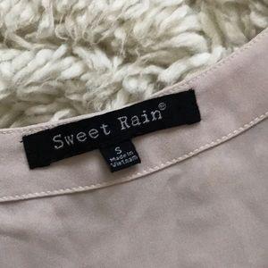 Sweet Rain Tops - Cream Blouse